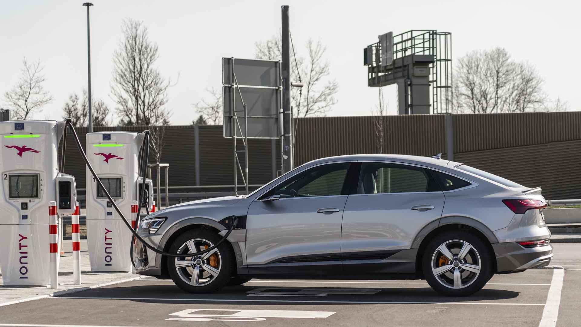 Audi e-tron charging at Ionity