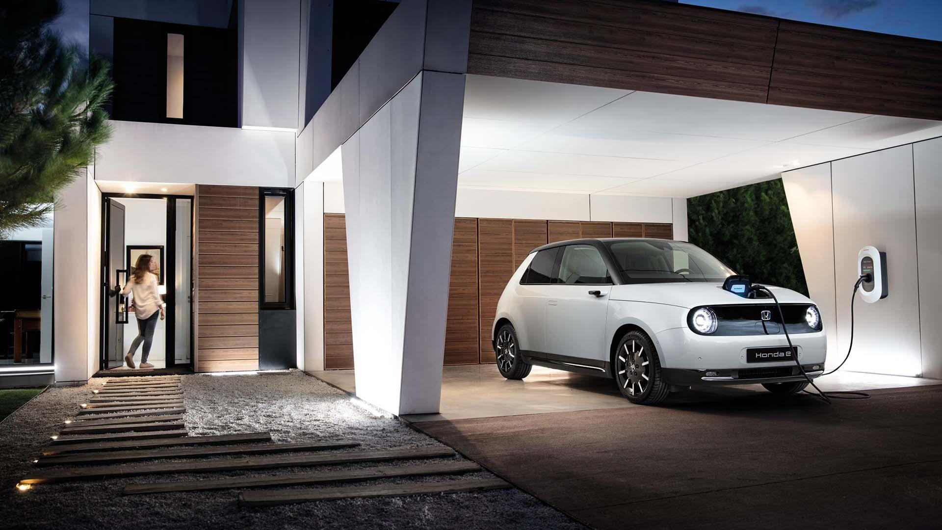 Honda e charging at home