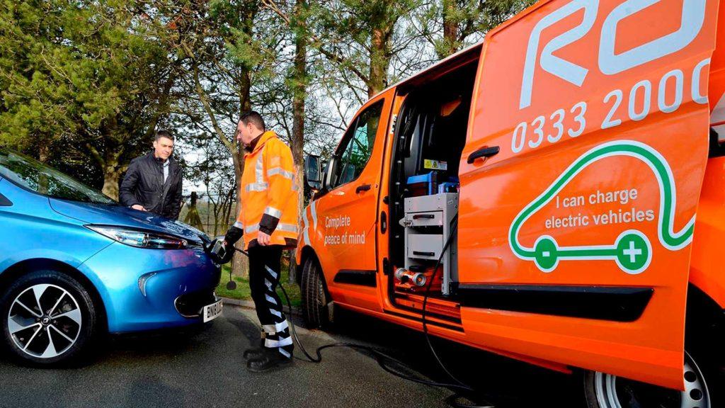 RAC patrol van with EV Boost