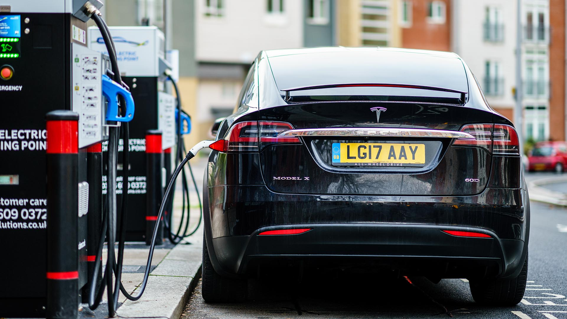 Tesla Model X charging
