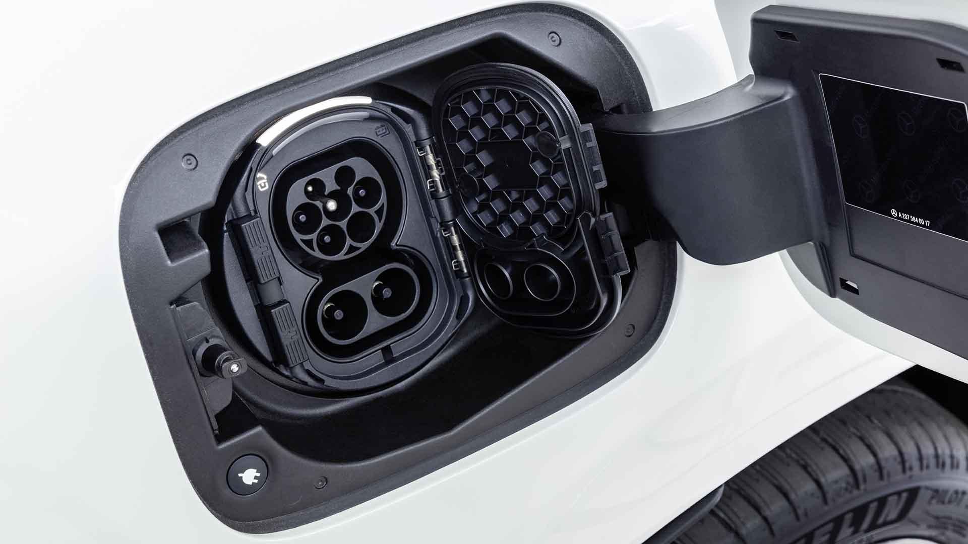 Charging a Mercedes-Benz EQC