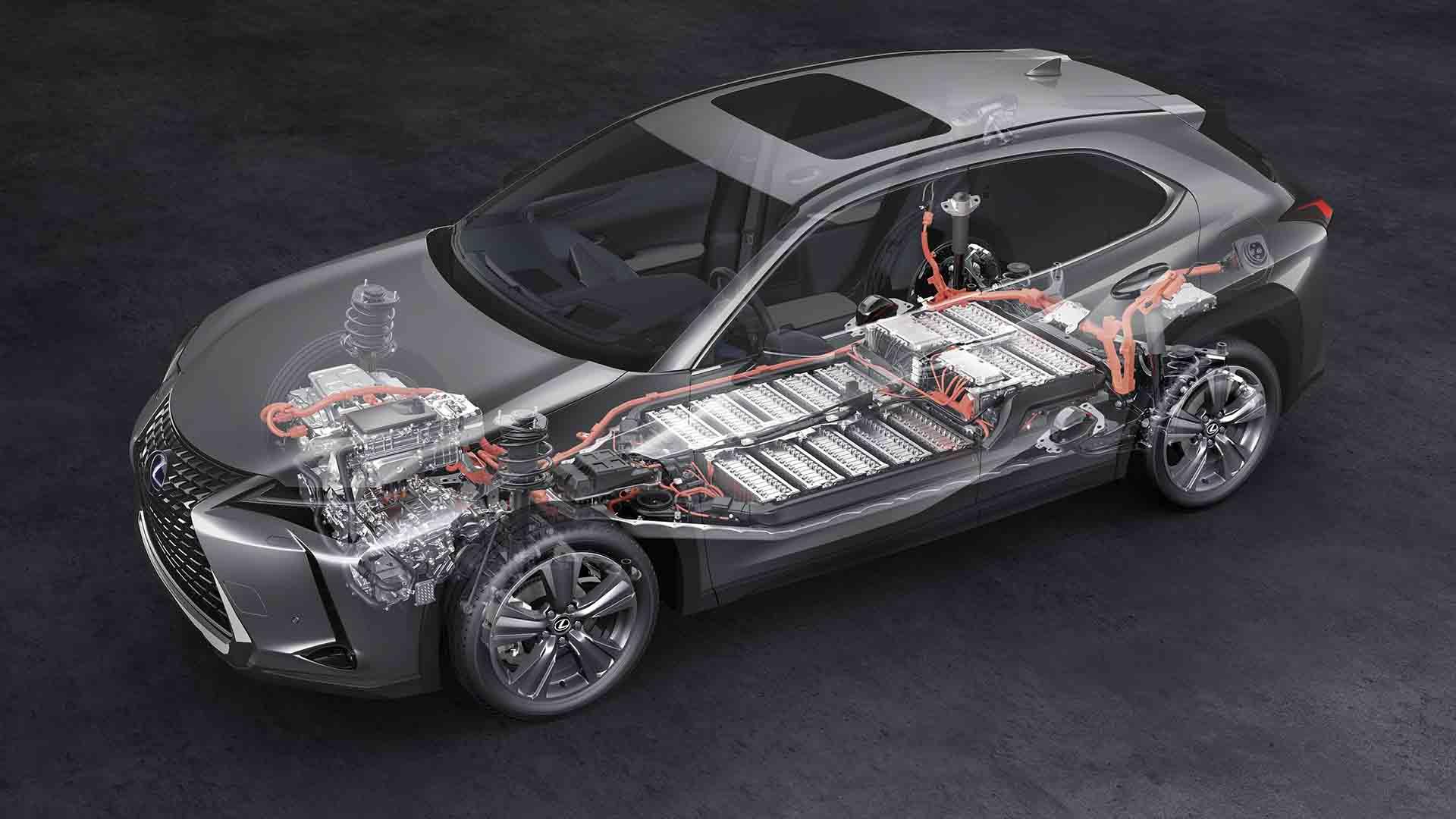 Lexus UX 300e cutaway