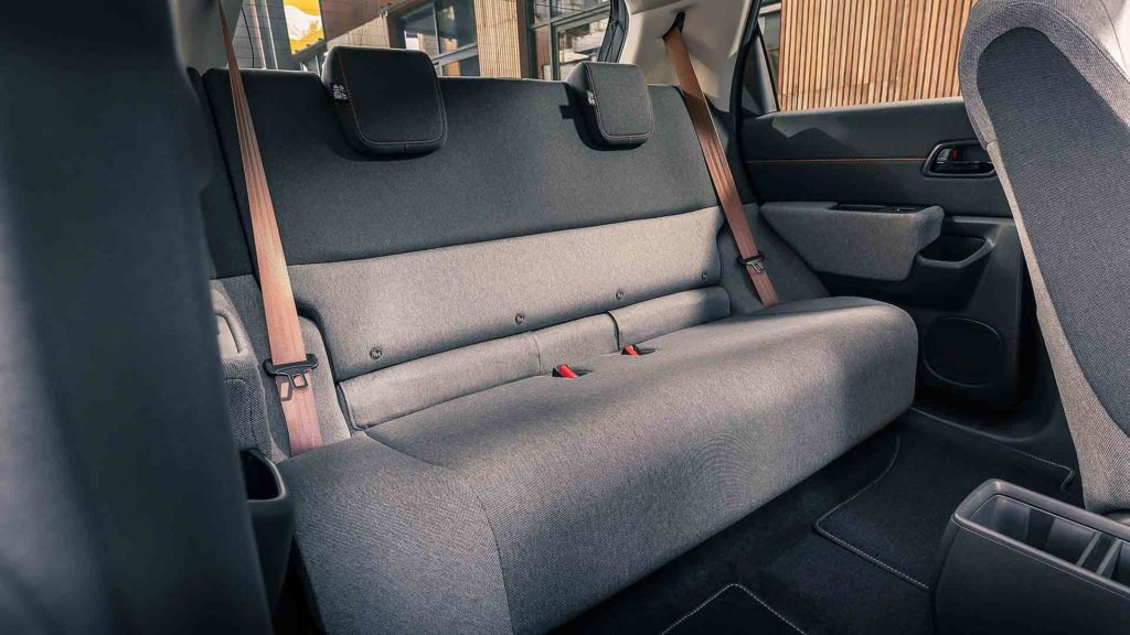 Honda e 2020 rear bench seat